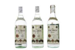 THREE LITRE BOTTLES OF RON BACARDI SUPERIOR RUM