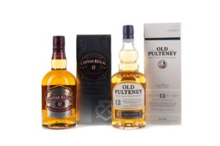 OLD PULTENEY AGED 12 YEARS, AND CHIVAS REGAL AGED 12 YEARS