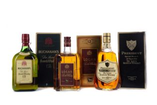 LOGAN DELUXE AGED 12 YEARS, BUCHANAN'S AGED 12 YEARS, AND PRESIDENT SPECIAL RESERVE AGED 12 YEARS