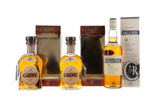 TWO BOTTLES OF CARDU 12 YEARS OLD AND ONE CRAGGANMORE12 YEARS OLD