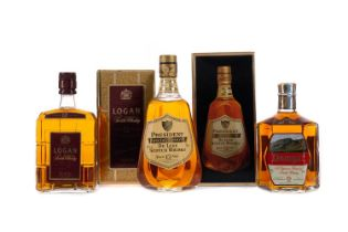 PRESIDENT SPECIAL RESERVE 12 YEARS OLD, LOGAN DELUXE, AND SCOTTISH LEADER 15 YEARS OLD