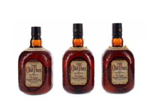 THREE BOTTLES OF GRAND OLD PARR AGED 12 YEARS