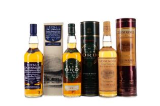 GLENMORANGIE 10 YEARS OLD, ROYAL LOCHNAGAR AGED 12 YEARS AND GLEN ORD 12 YEARS OLD