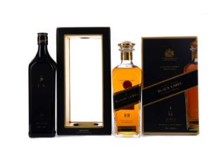 JOHNNIE WALKER BLACK LABEL COLLECTORS EDITION, AND ANNIVERSARY EDITION