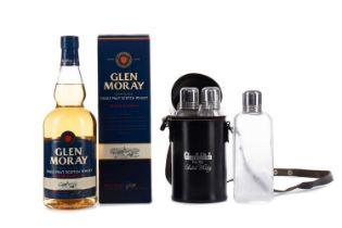 GLEN MORAY AND GLENFIDDICH GLASS FLASK BAG