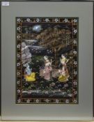A 20TH CENTURY INDIAN PAINTING ON FABRIC