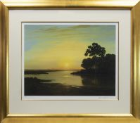 DEVON COAST AT SUNRISE, A LIMITED EDITION PRINT BY GERALD COULSON