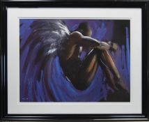 GUARDIAN, A PASTEL PRINT ON PAPER