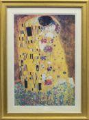 THE KISS (LIEBESPAAR, LOVERS), AFTER GUSTAV KLIMT
