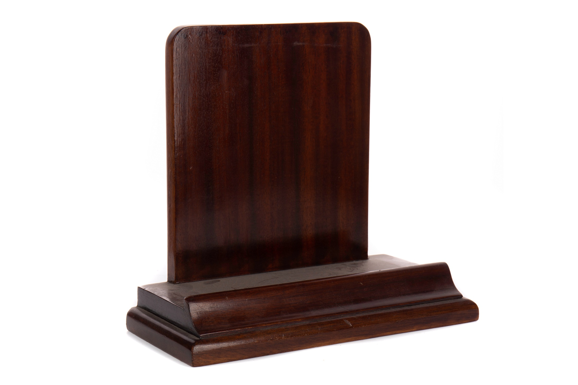 A MID-20TH CENTURY CHINESE MAHOGANY PLATE STAND