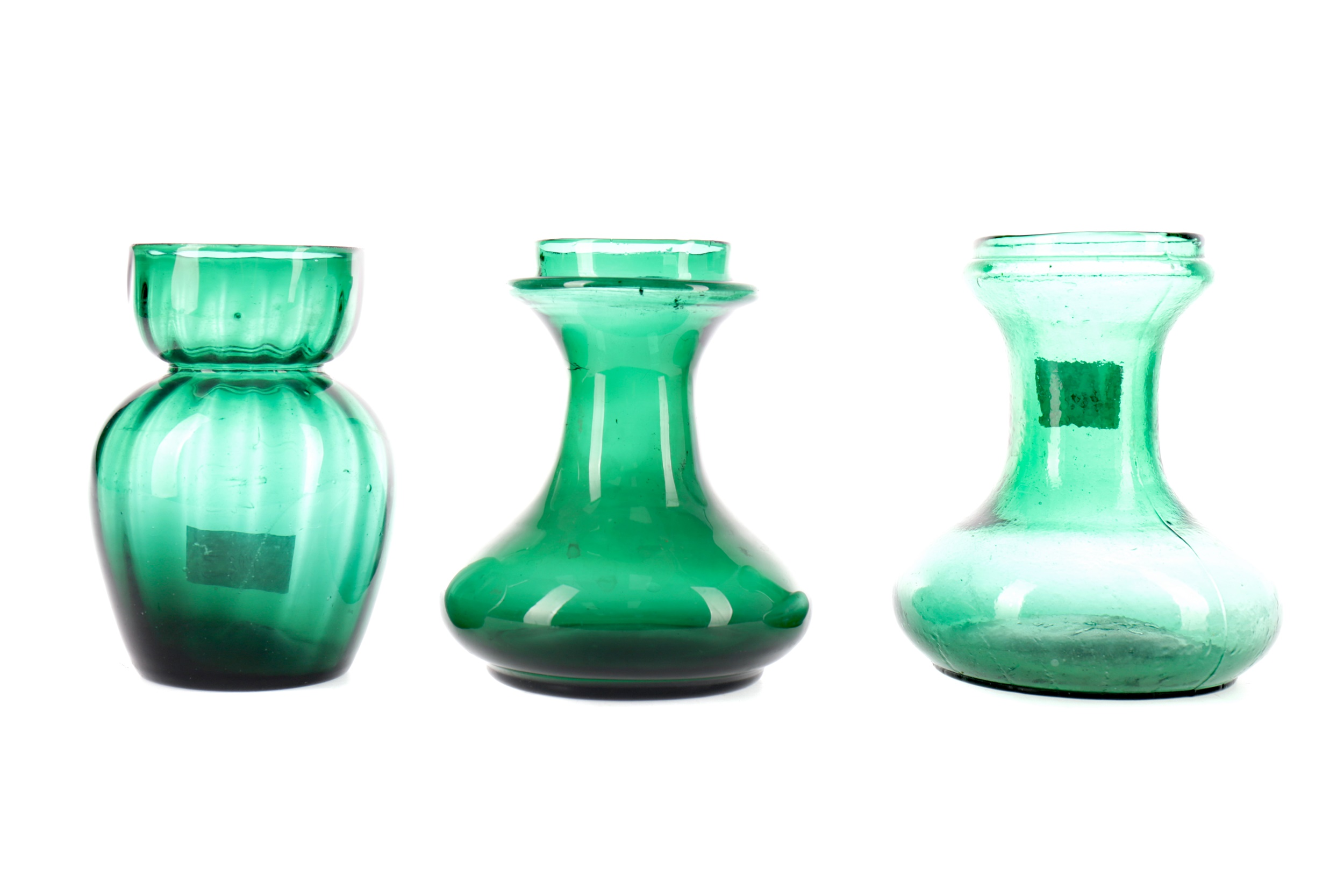 THREE LATE VICTORIAN GLASS VASES