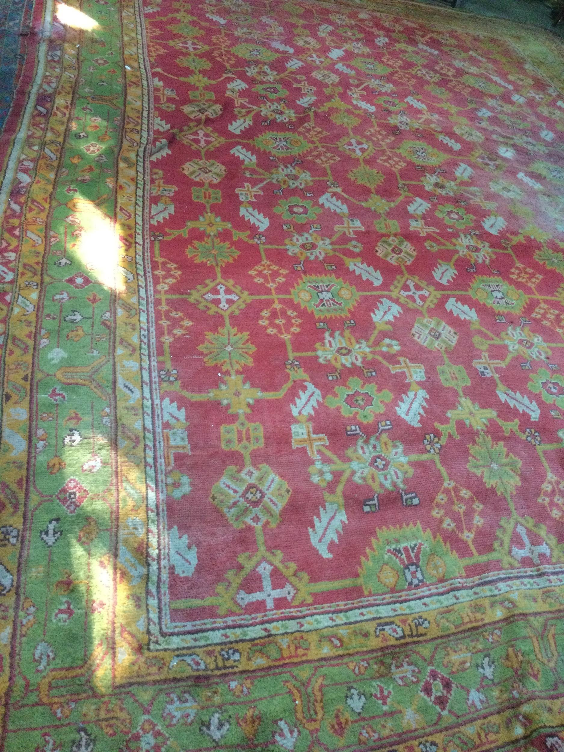 A TURKEY BORDERED CARPET