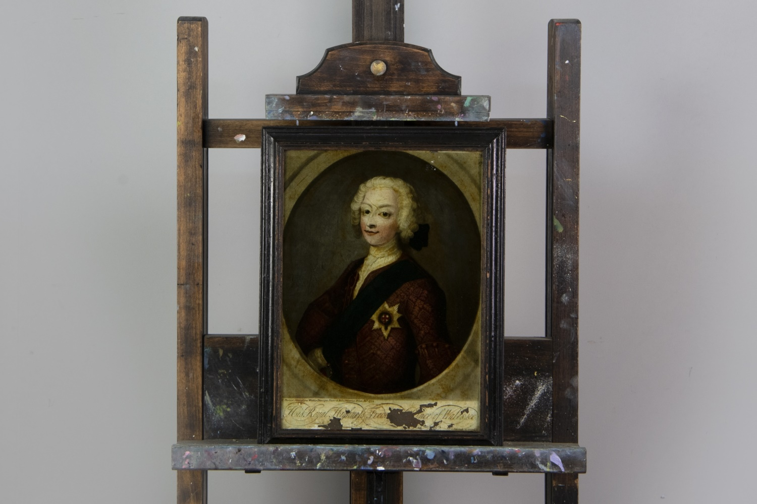 A REVERSE PAINTED HALF LENGTH PORTRAIT OF CHARLES EDWARD STUART AND OTHERS