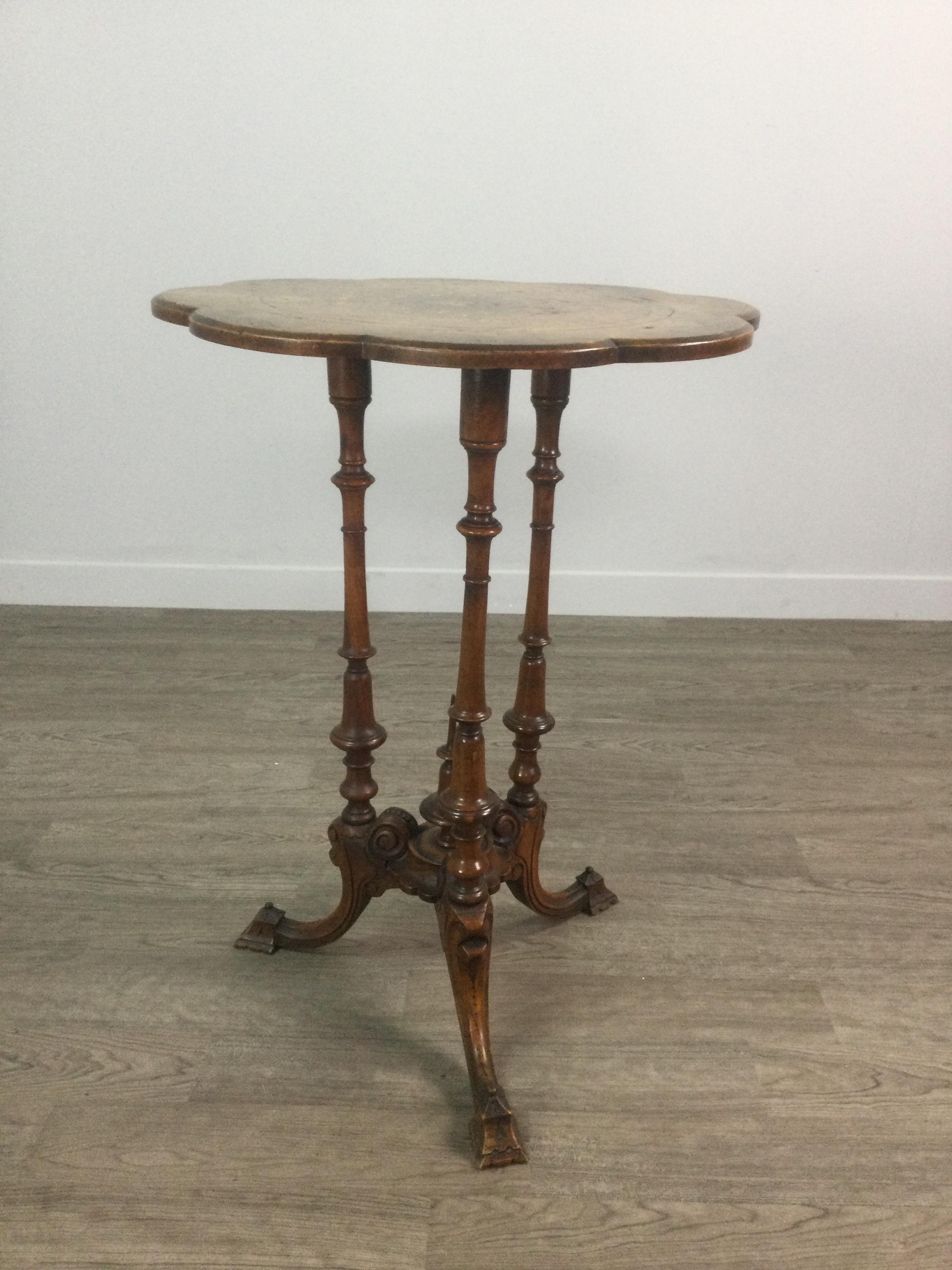 A VICTORIAN WALNUT OCCASIONAL TABLE