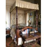 A 19TH CENTURY MAHOGANY TESTER BED
