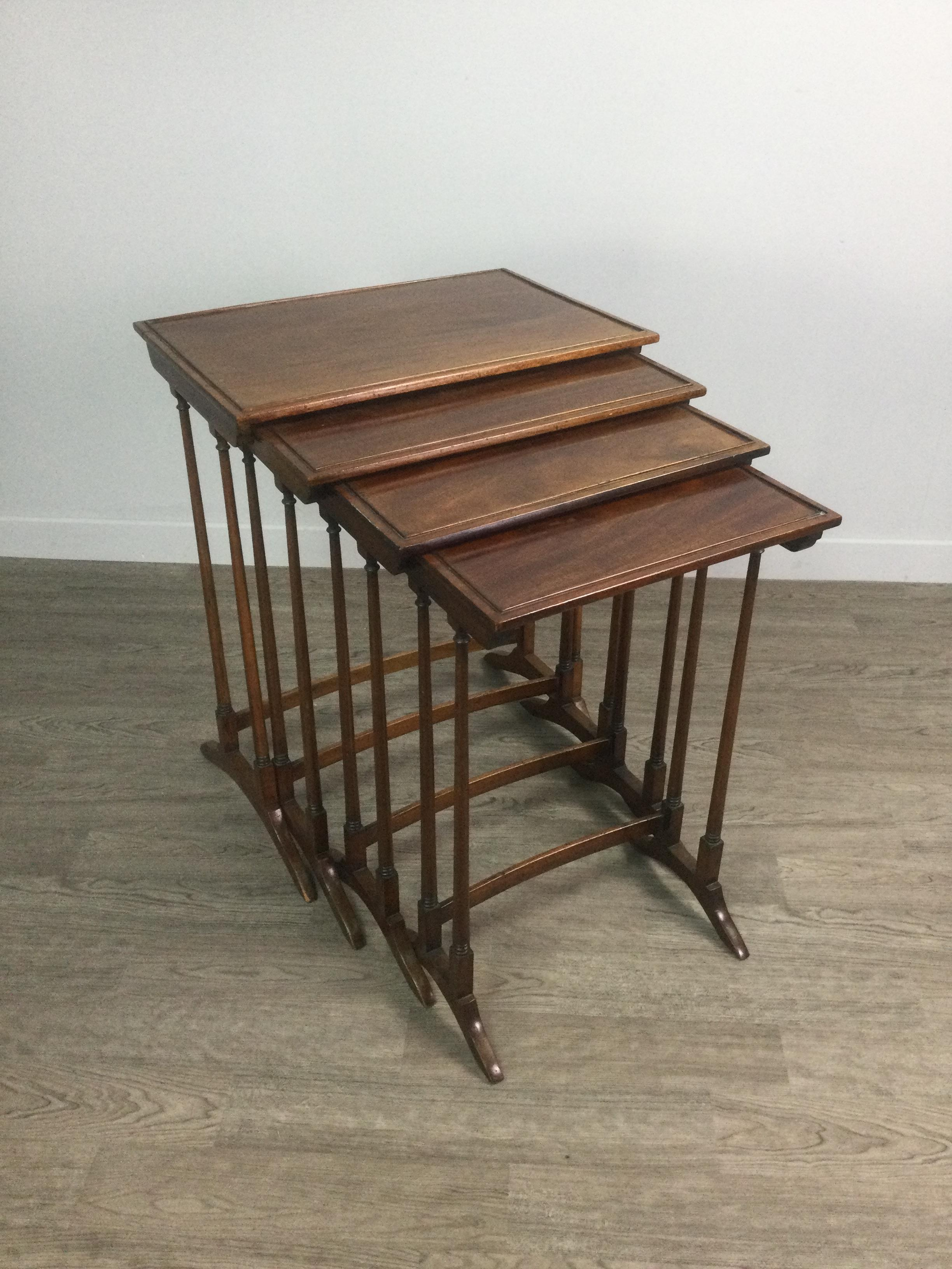 AN EDWARDIAN QUARTETTO OF MAHOGANY OCCASIONAL TABLES - Image 2 of 3