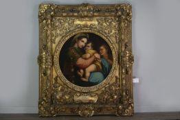 AN IMPRESSIVE WORK - THE MADONNA DELLA SADIA, AFTER RAPHAEL