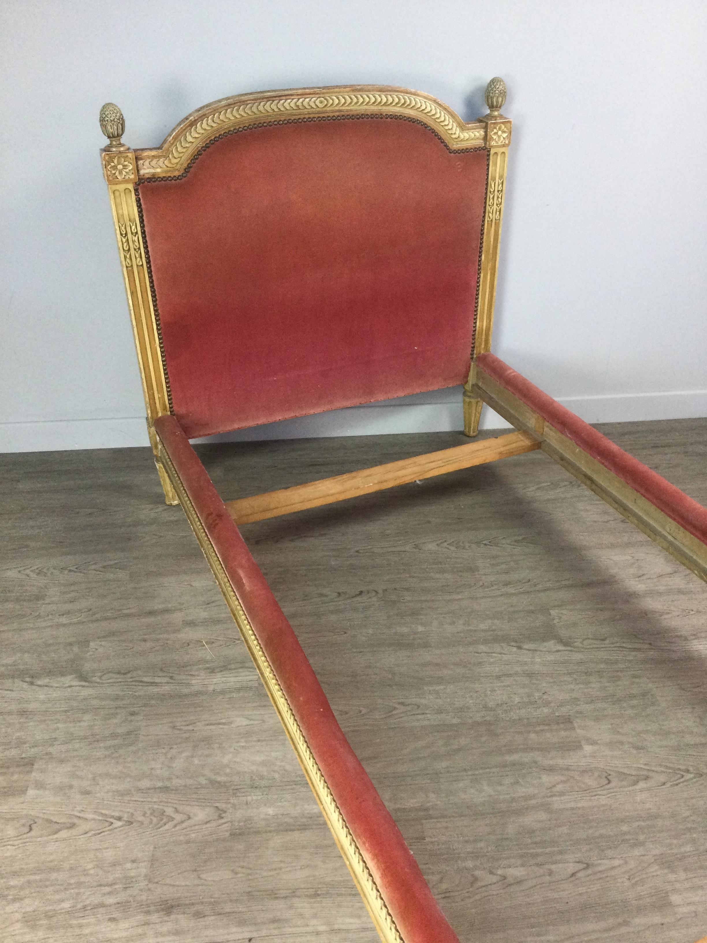 A FRENCH GILT-WOOD SINGLE BEDSTEAD - Image 2 of 2