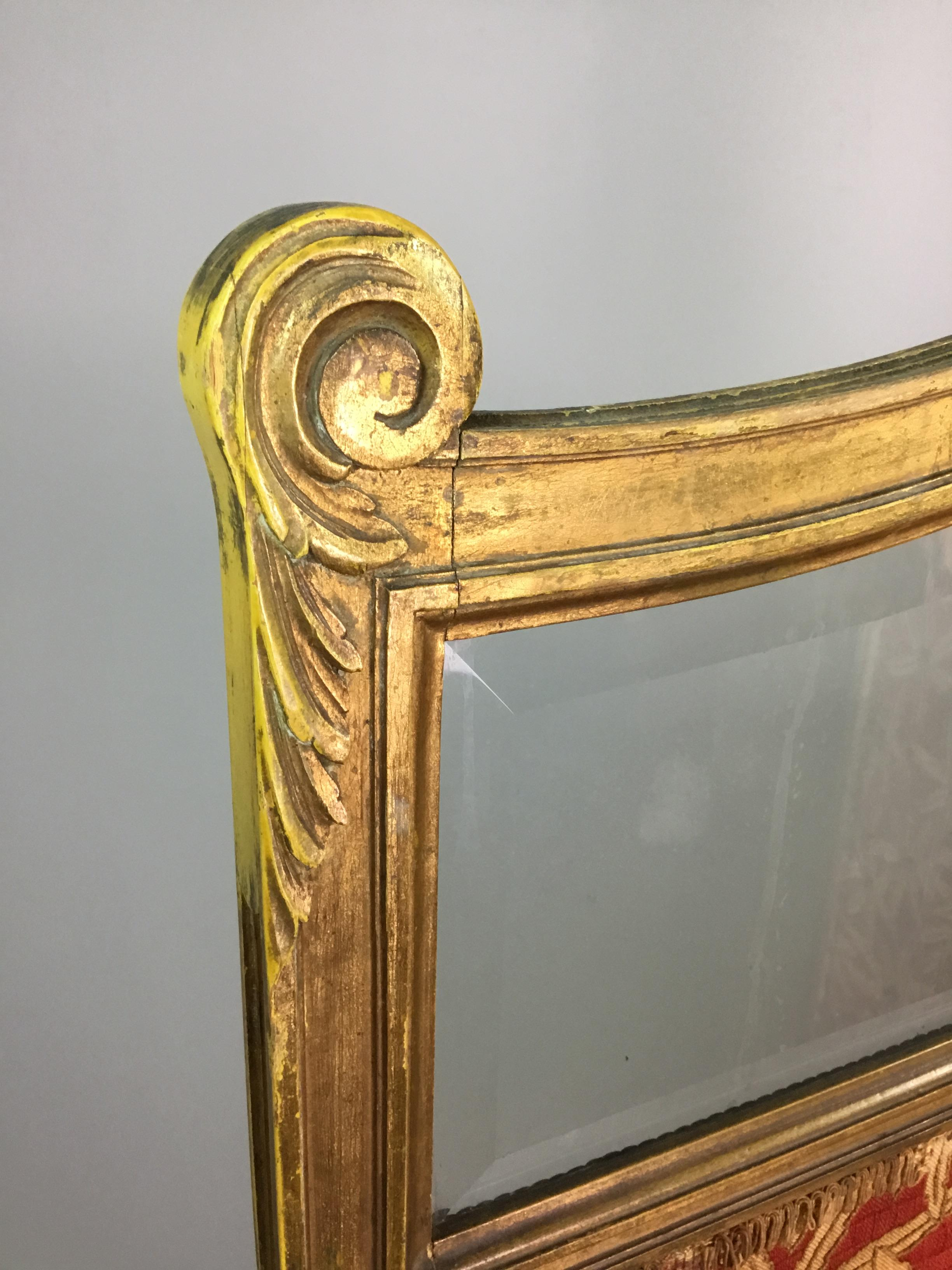 A LATE VICTORIAN GILTWOOD TWO PANEL DRESSING SCREEN - Image 2 of 4