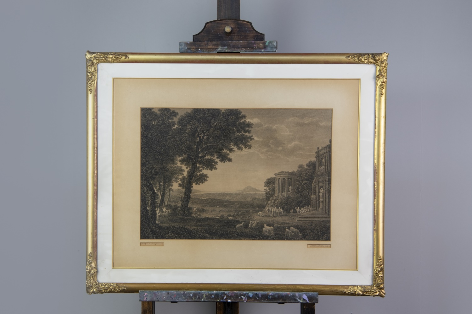 TWO ENGRAVINGS AFTER CLAUDE LORRAIN