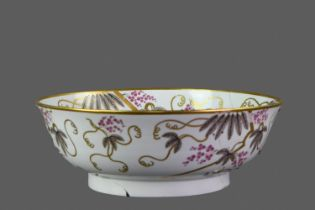 AN EARLY 19TH CENTURY ENGLISH PORCELAIN BOWL