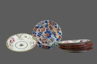 A PAIR OF LATE 19TH CENTURY ENGLISH PORCELAIN BOWLS AND OTHERS