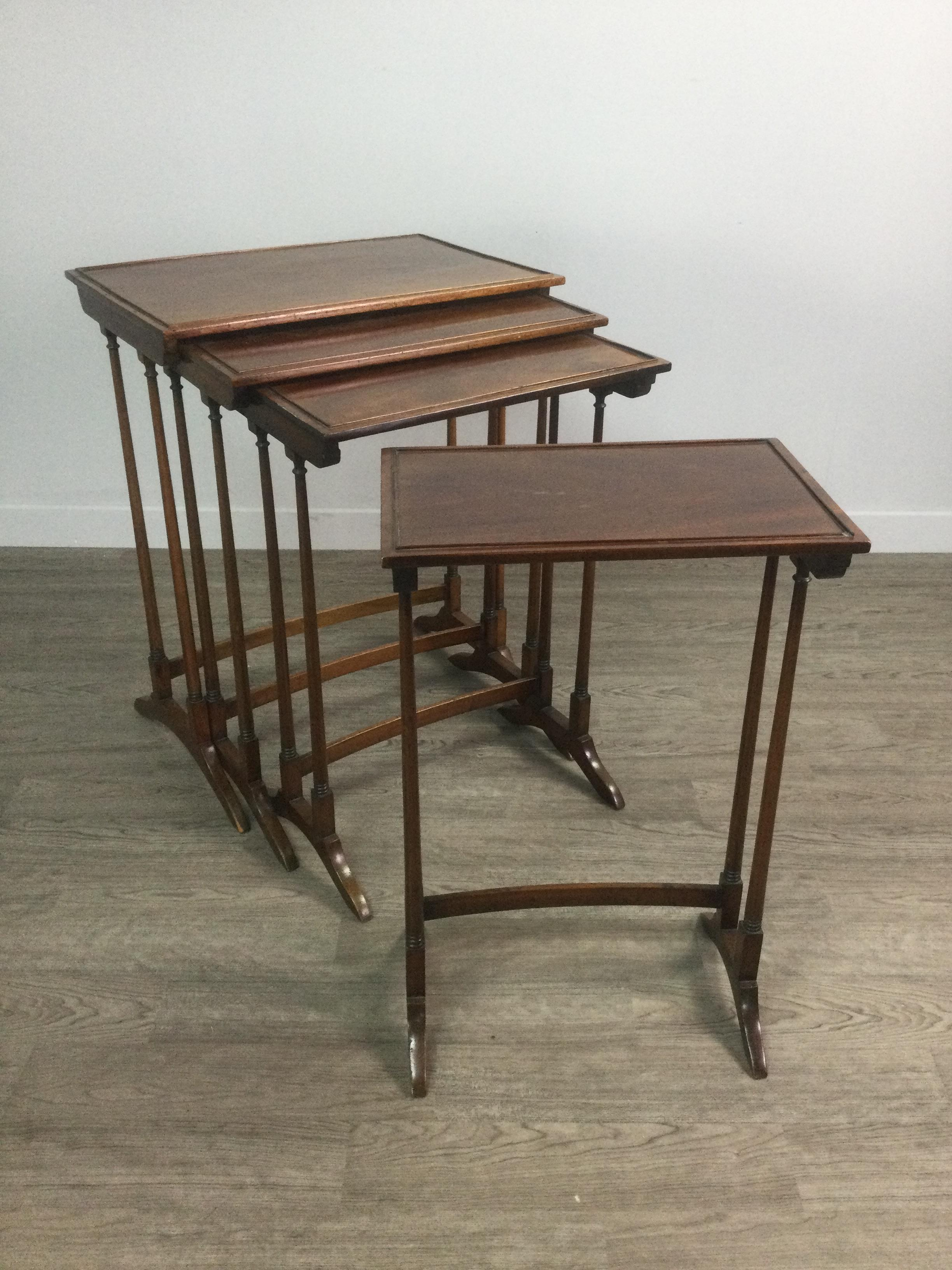 AN EDWARDIAN QUARTETTO OF MAHOGANY OCCASIONAL TABLES - Image 3 of 3