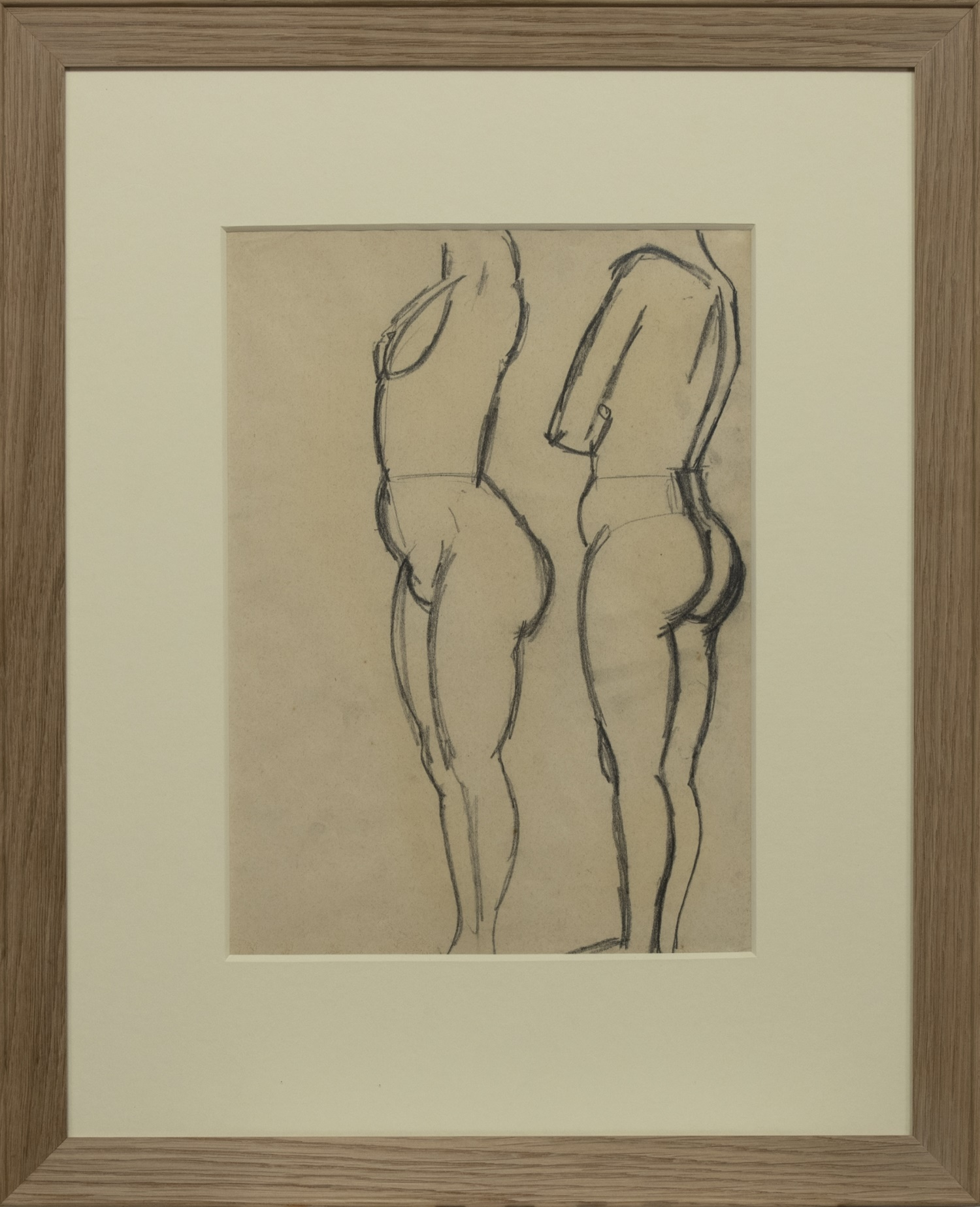 TWO STANDING NUDES, A SKETCH BY JOHN DUNCAN FERGUSSON