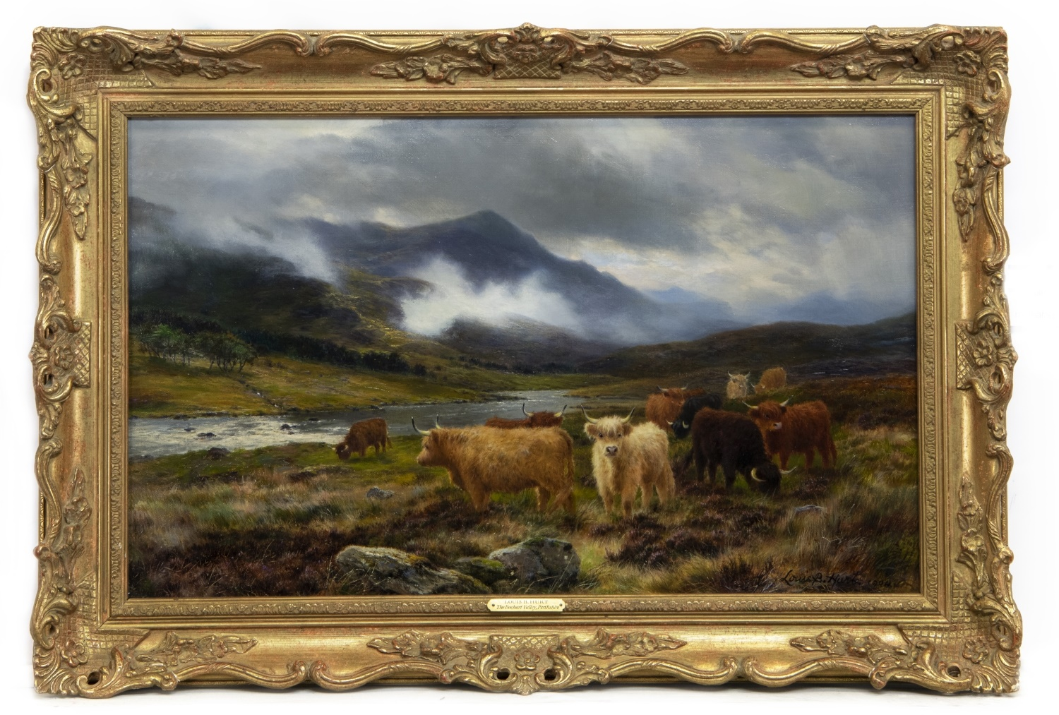 THE DOCHART VALLEY, PERTHSHIRE, AN OIL BY LOUIS BOSWORTH HURT