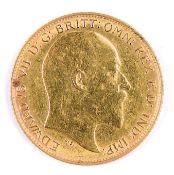 GOLD COIN. HALF SOVEREIGN 1909