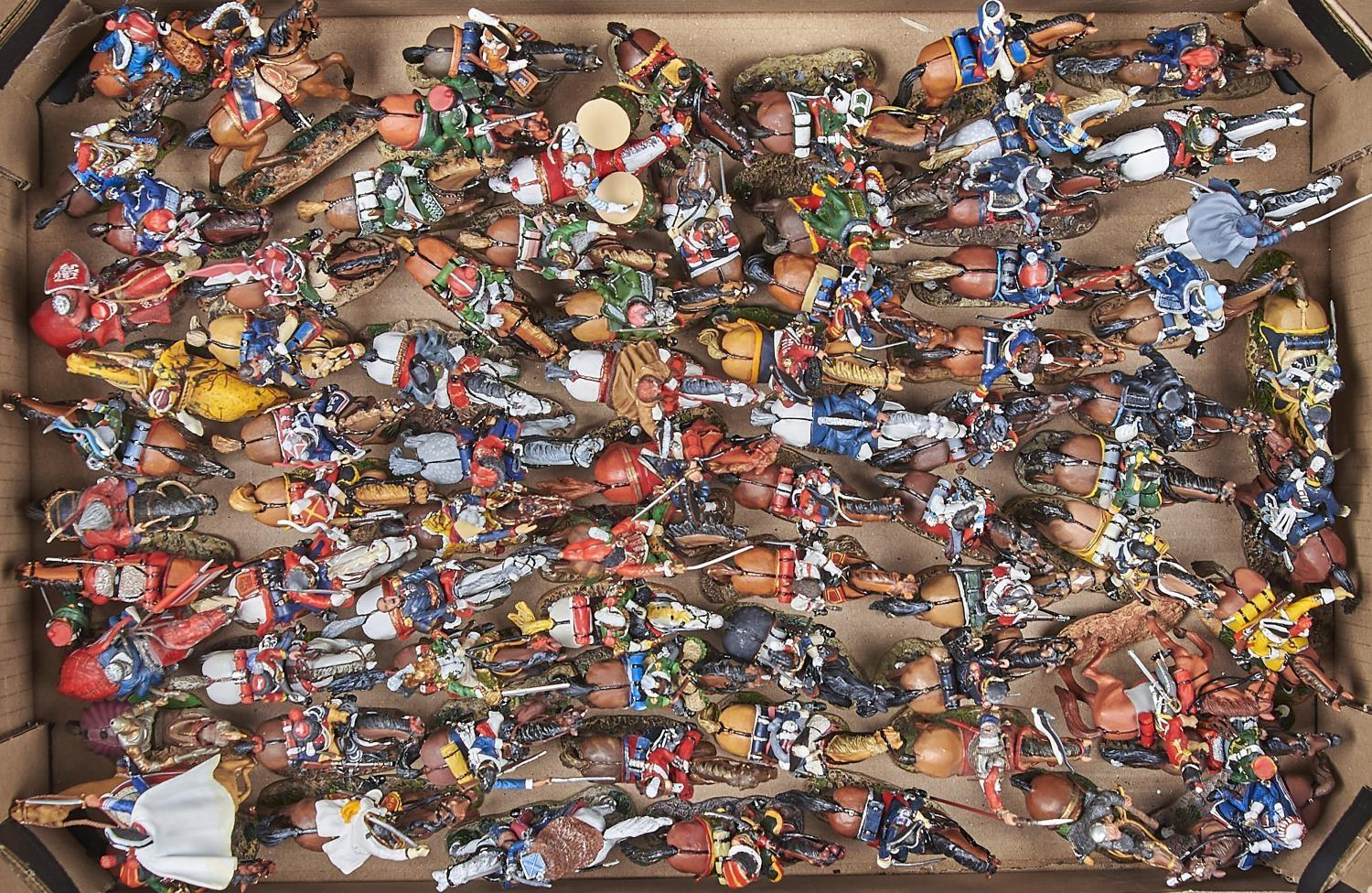 TOY SOLDIERS. A COLLECTION OF DEL PRADO PAINTED CAST METAL FIGURES ON HORSEBACK TO INCLUDE BRITISH