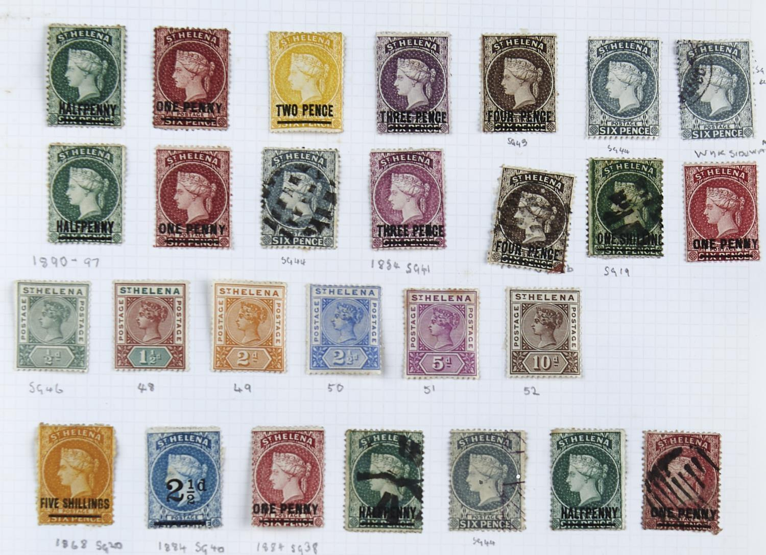 ASCENSION/ST.HELENA:1938-66 The mint Ascension collection inc. 1938-53 1/2d to 10/- selection with