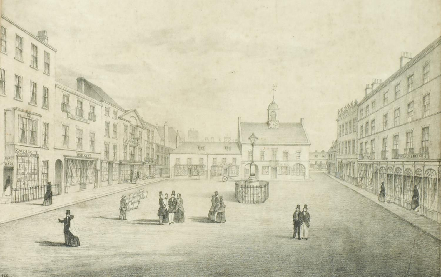 MISCELLANEOUS 19TH C AND LATER PICTURES AND PRINTS, MANY OF GAINSBOROUGH (LINCOLNSHIRE) INTEREST