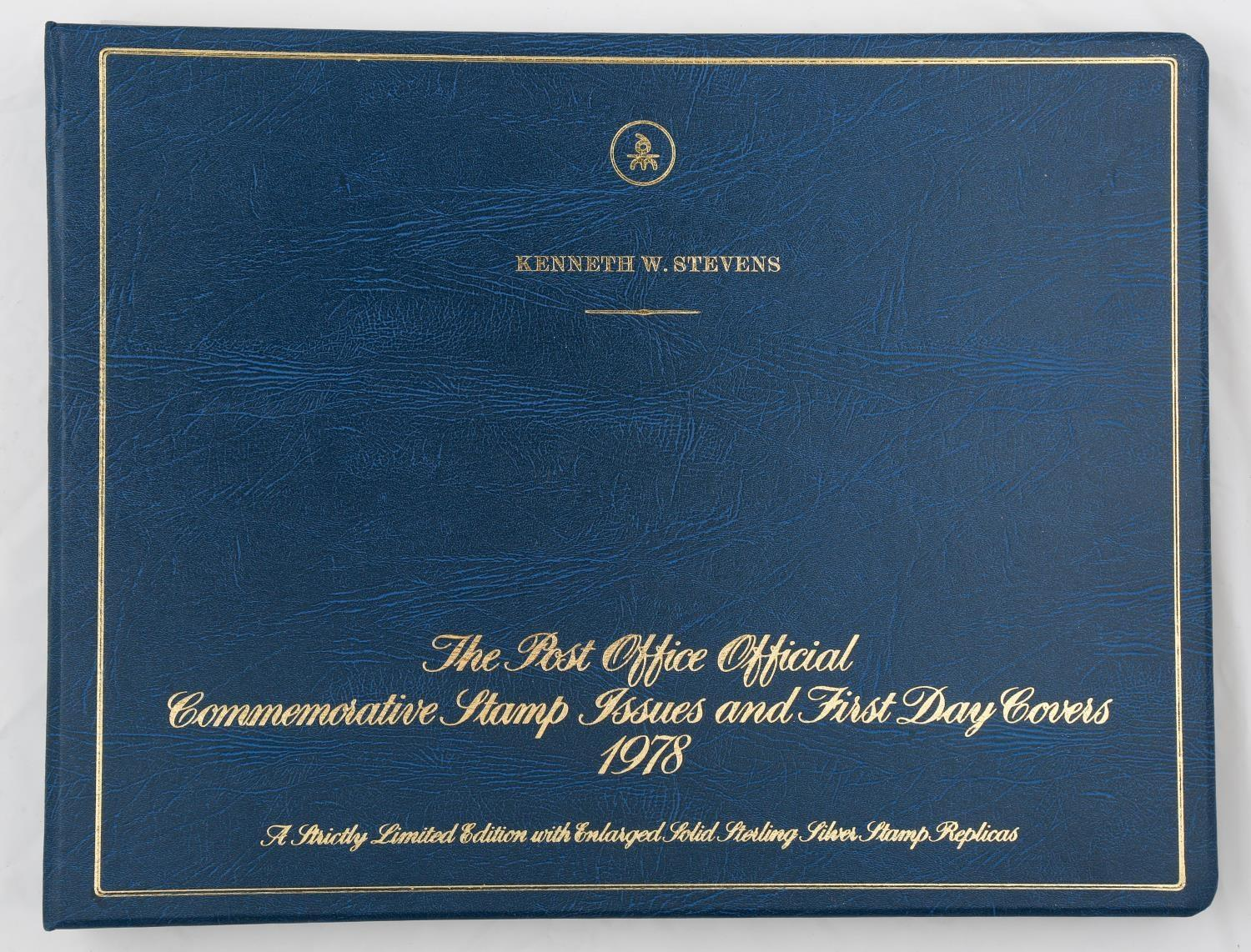 POST OFFICE OFFICIAL COMMEMORATIVE STAMP ISSUES AND FIRST DAY COVERS, 1978. AN ALBUM OF FIVE FIRST