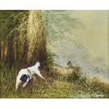 ENGLISH SCHOOL, 20TH-21ST CENTURY - GUN DOG AND GAME, INDISTINCTLY SIGNED, OIL ON CANVAS, 40 X