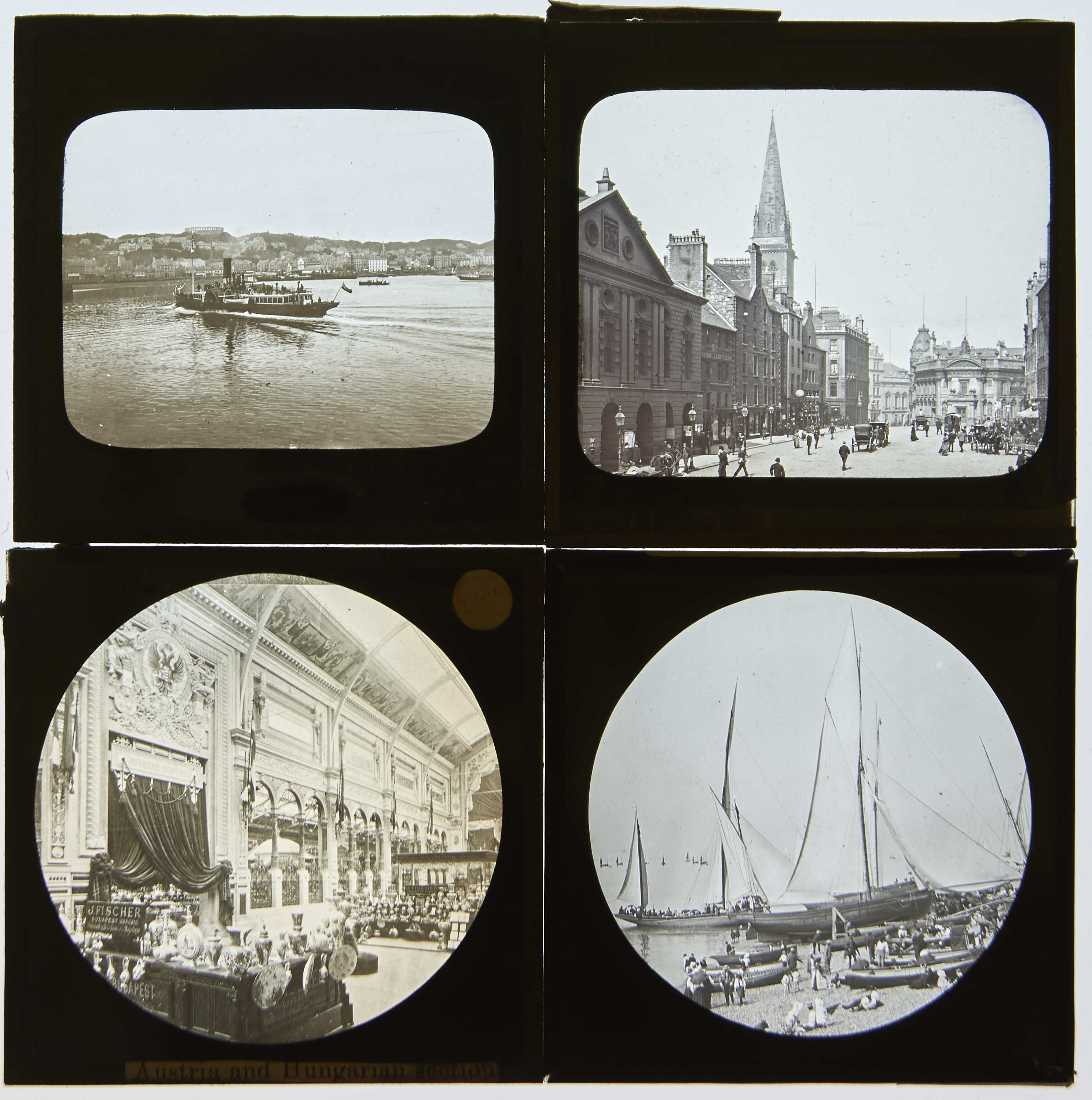 """TWO DEAL BOXES OF 3¼ X 3¼"""" MAGIC LANTERN SLIDES, LATE 19TH / EARLY 20TH C, VARIOUS SUBJECTS, TO - Image 2 of 2"""