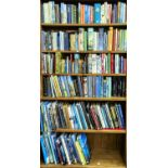 SIX SHELVES OF BOOKS, MISCELLANEOUS GENERAL SHELF STOCK, MAINLY HISTORY AND TRAVEL