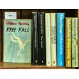 """GOLDING, WILLIAM - EIGHT PRESENTATION COPIES SIGNED, COMPRISING FREE FALL (1ST, 1959, """"FOR ANDREW"""