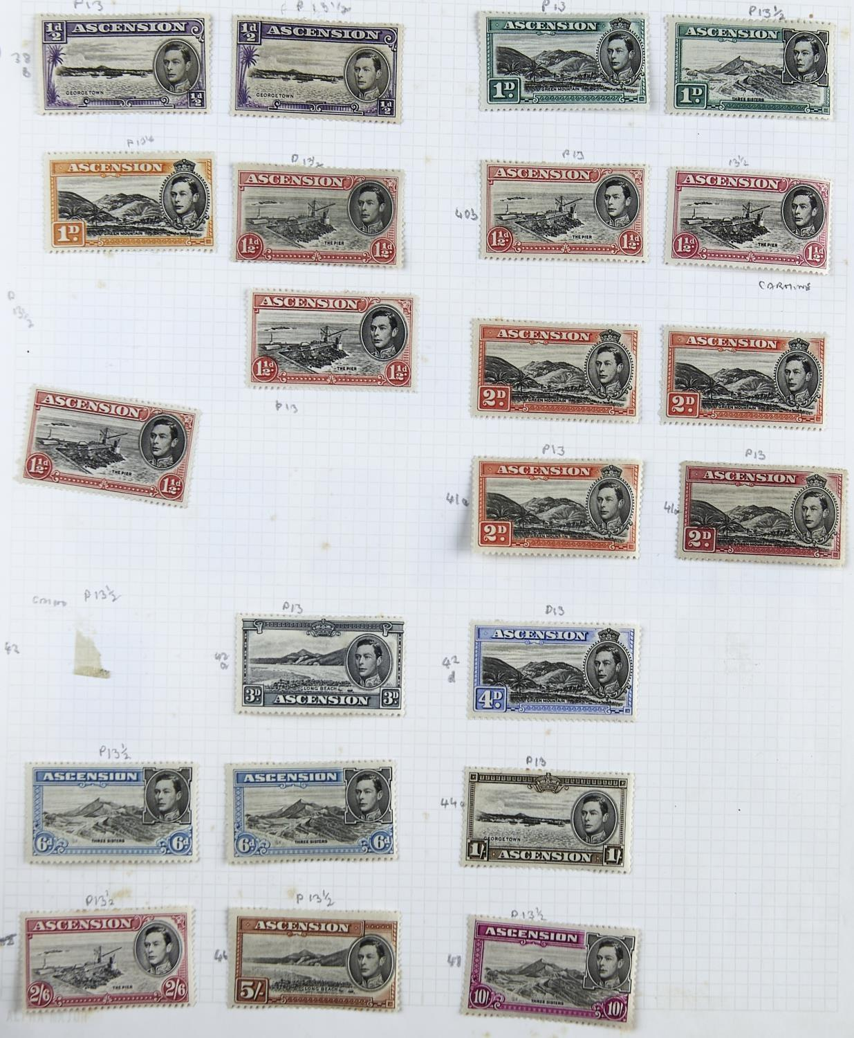 ASCENSION/ST.HELENA:1938-66 The mint Ascension collection inc. 1938-53 1/2d to 10/- selection with - Image 2 of 3
