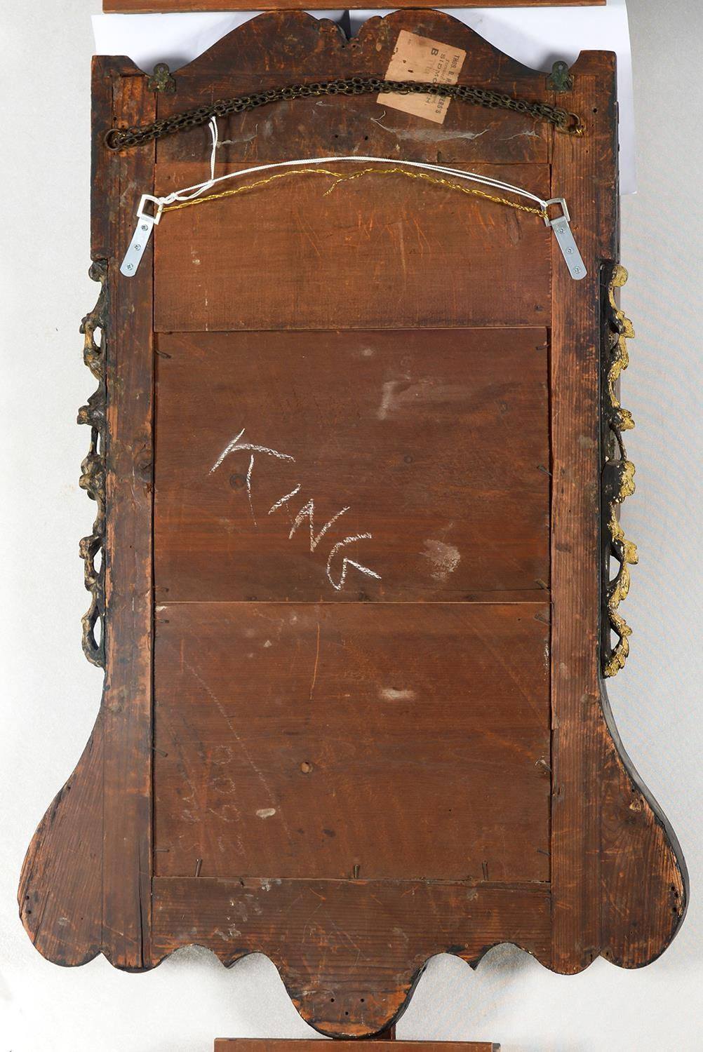 A VICTORIAN PARCEL GILT WALNUT MIRROR, C1870, IN GEORGE II STYLE, 103CM H, 69.5CM WProvenance: The - Image 2 of 2