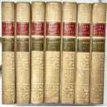 BINDINGS. LOCKHART (J G) - MEMOIRS OF THE LIFE OF SIR WALTER SCOTT, BART, 8VO, 7 VOLS, HALF