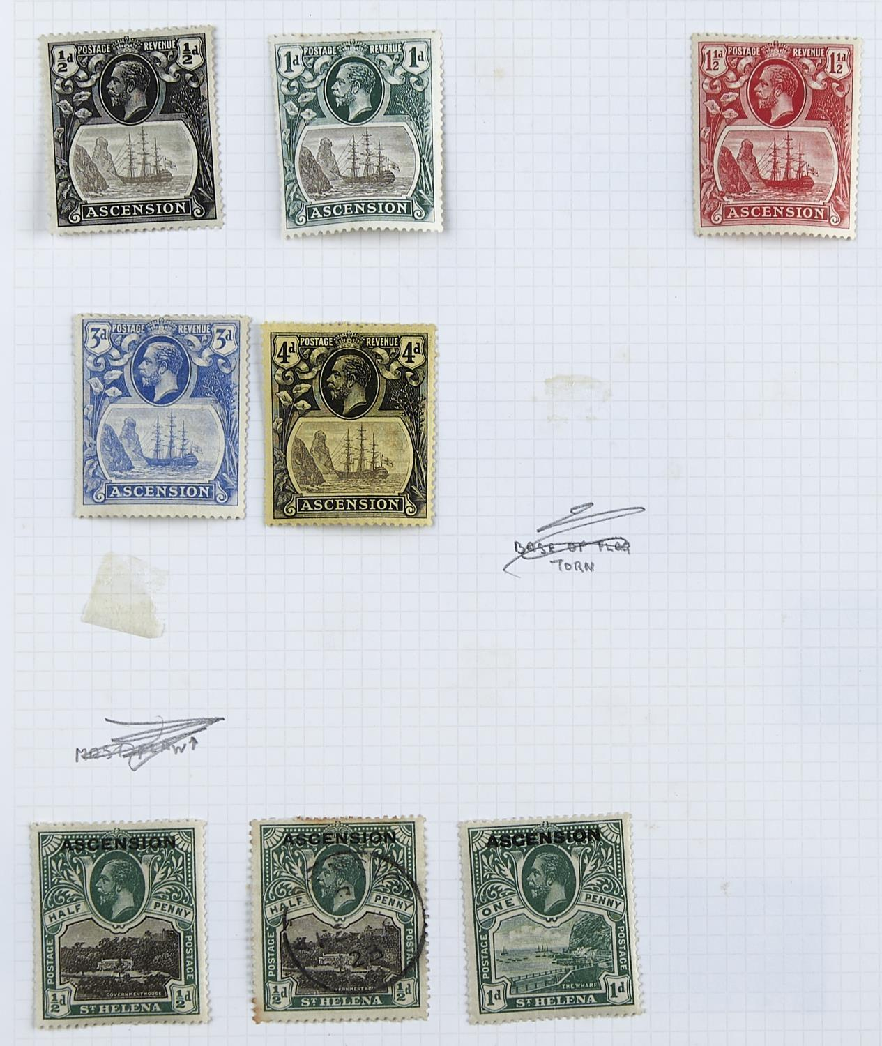 ASCENSION 1922-37 selection with mint 1922 1/2d to 3/- plus additional 1/2d (2, inc. one used & - Image 2 of 4