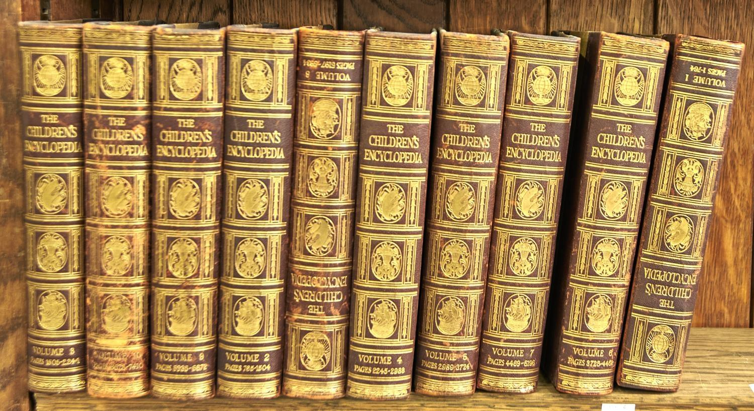 SOTHEBY'S - ART AT AUCTION, ANNUAL VOLUME, 1970S/80S (29) AND A SET OF CHILDREN'S ENCYCLOPAEDIA