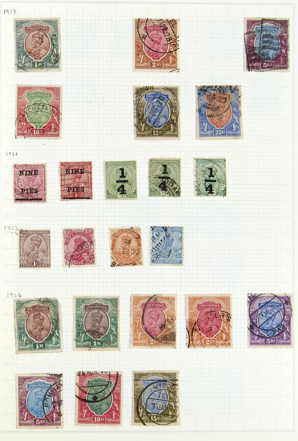 INDIA & STATES 1854-1947 The mainly used two volume collection with some duplication. Inc 1854 1/2da - Image 3 of 3