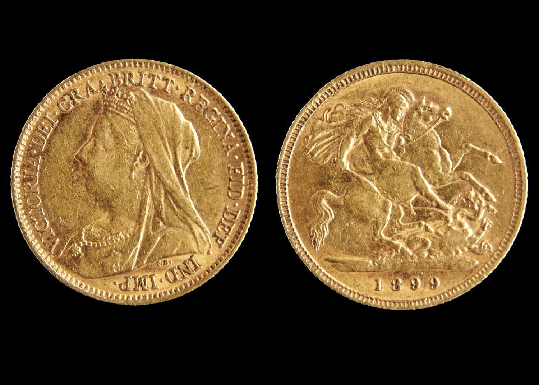 GOLD COIN. HALF SOVEREIGN 1899