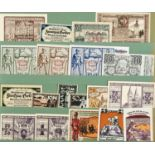 PAPER MONEY. AN UNUSUAL AND EXTENSIVE COLELCTION OF GERMAN, RUSSIAN AND OTHER NOTGELD, IN TWO