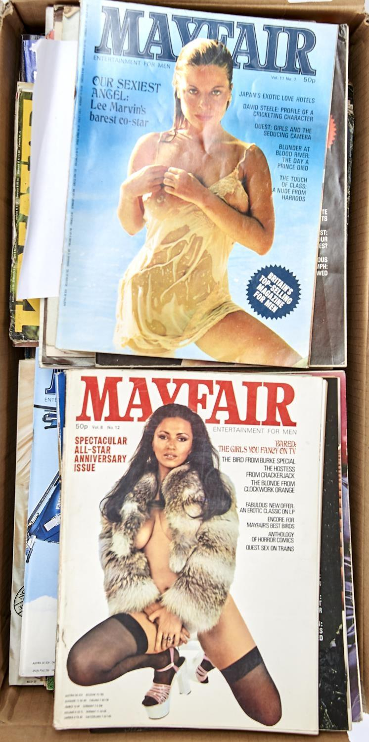 VINTAGE GLAMOUR. A QUANTITY OF MAYFAIR MAGAZINES (APPROXIMATELY 65) - Image 2 of 2