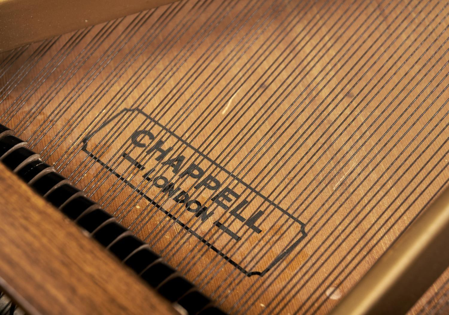 """A 4' 6"""" CHAPPELL GRAND PIANO, IN WALNUT CASE Veneers faulty - Image 4 of 4"""