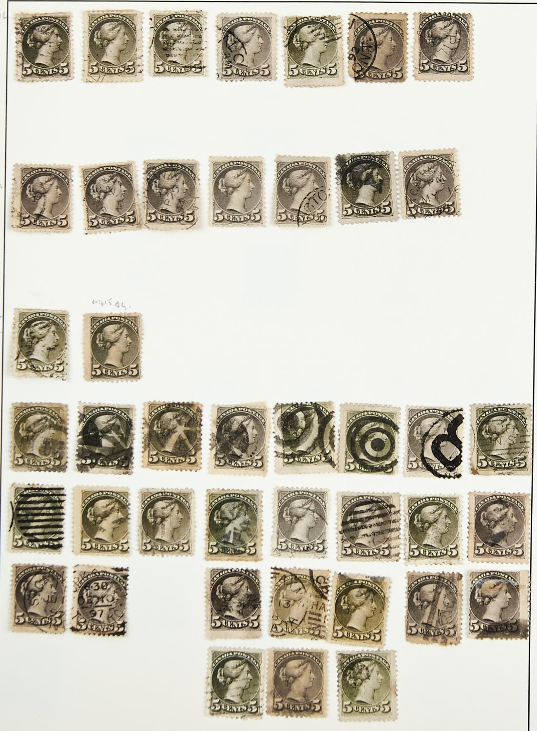 CANADA ETC. 1868-1965The mainly used collection inc. large Queens to 15c, small Queens with 1c (52), - Image 3 of 3