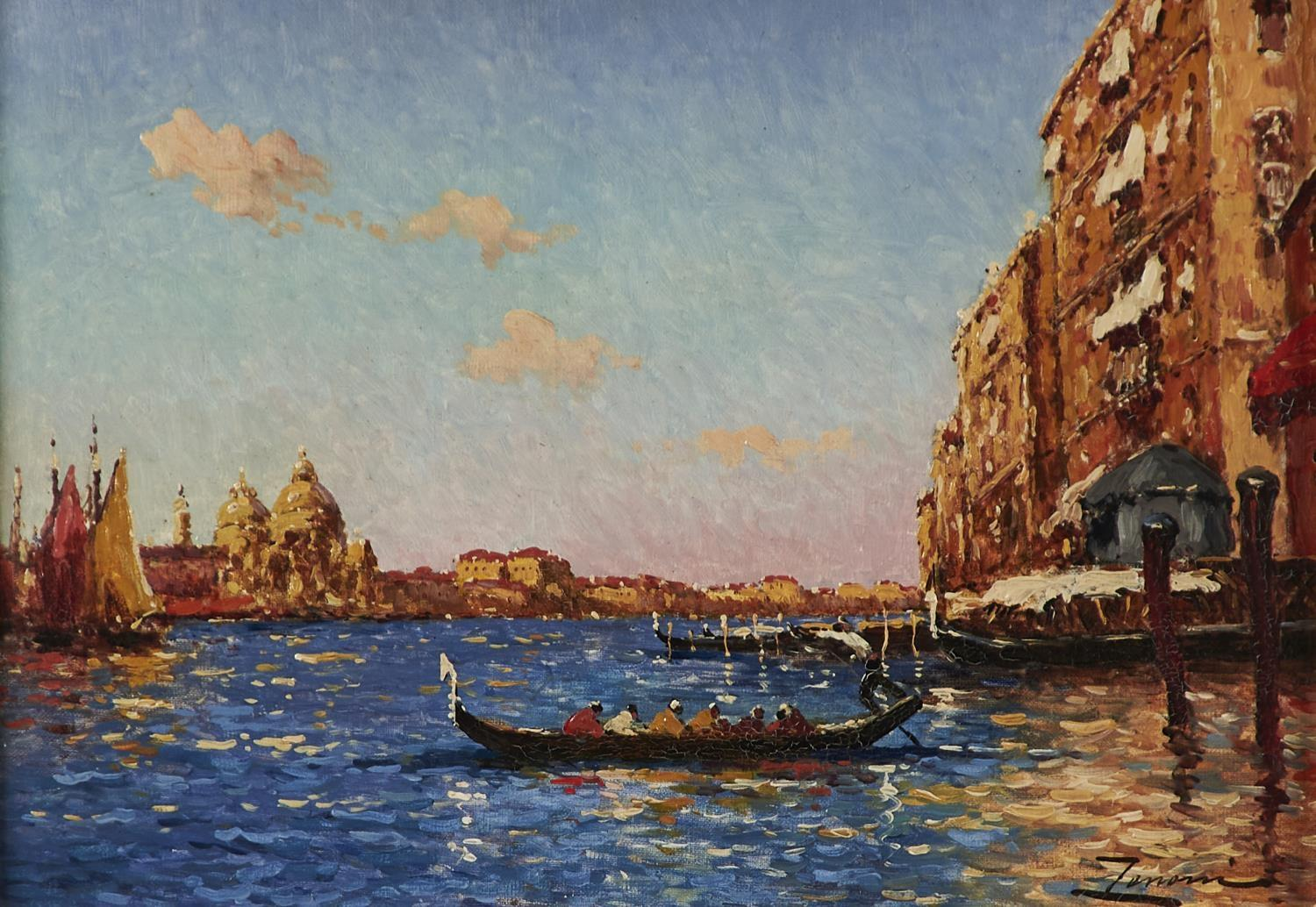 ITALIAN SCHOOL, 19TH/EARLY 20TH CENTURY - THE GRAND CANAL, VENICE, INDISTINCTLY SIGNED, OIL ON
